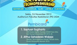 "Seminar Nasional dan lomba hacking ""Young Technopreneurship"""
